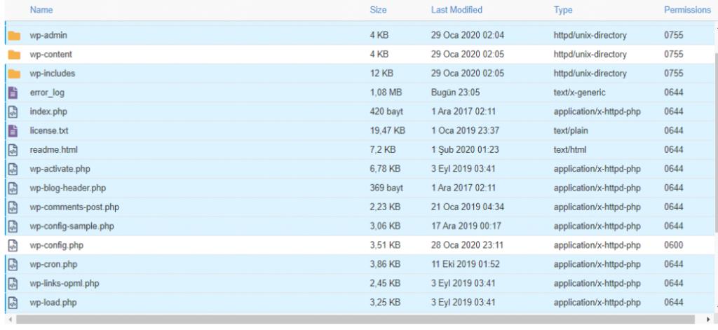 Wordpress Web Sitemizin Dosya Dizini pop up virüs