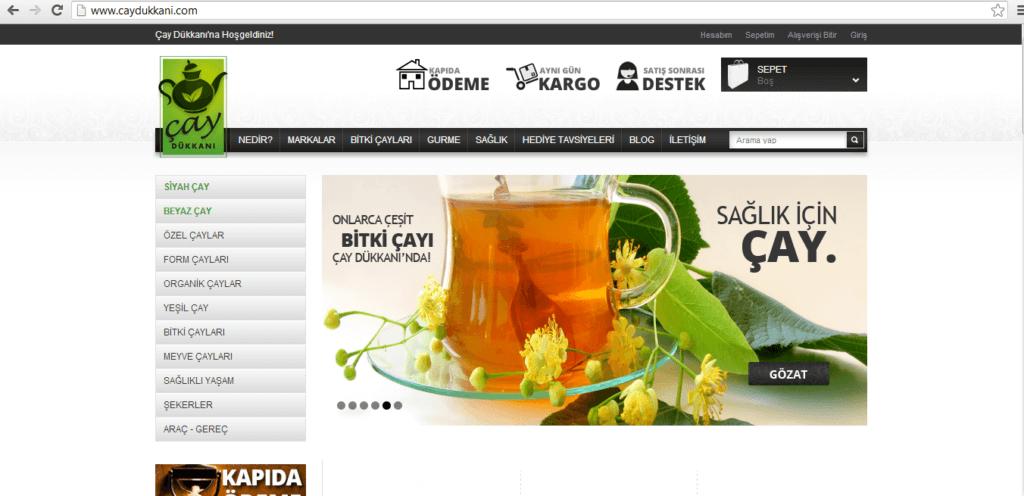 Şekil 2.25. www.caydukkani.com ana sayfa.