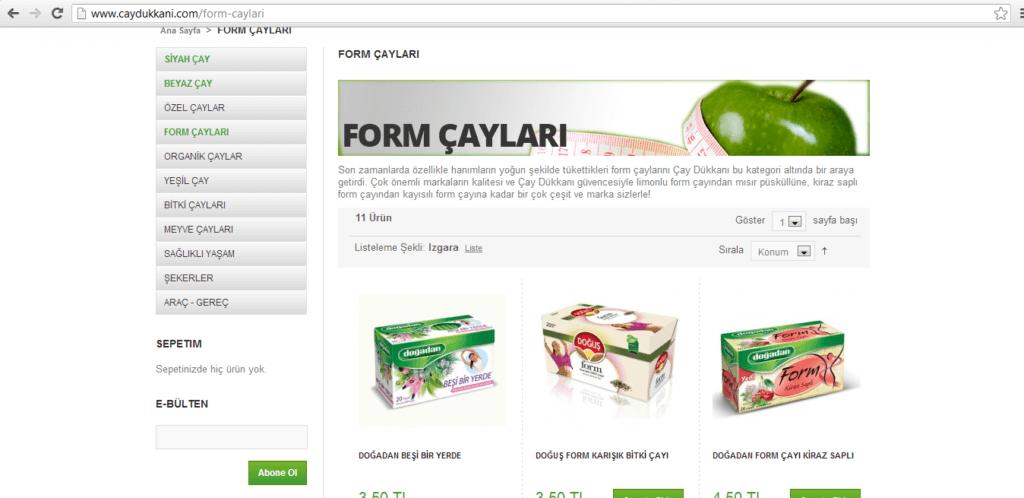 Şekil 2.26.www.caydukkani.com ürün sayfası.